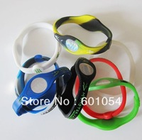 Wholesale- 200pcs/lot Balance Bracelet Silicone Energy Sport Wristband Band -US,UK,Canada,Australia support DHL SHIPPING FREE!