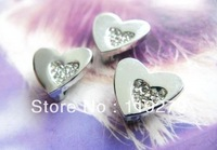 1pc 8mm Heart Slide Charms DIY charms Fit Pet Collars Wristbands Belts