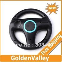 wholesale Free shipping Brand new! Racing Games Steering Wheel For Nintendo Wii Mario Kart 2pcs/lot