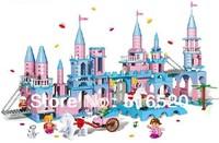 Banbao Princess Series Moon Castle 8363 Girl Building Block Sets 960pcs Educational Jigsaw Construction Bricks toys for children