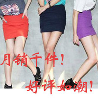 seckill free shipping women Summer candy color short skirts basic skirt a-line skirt