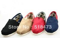free shipping (30pair / lot) Euramerican style Spell color women's Canvas shoes
