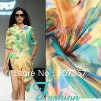 Wholesale 100% silk chiffon fabric / SILK scarf / dress fabric 00493