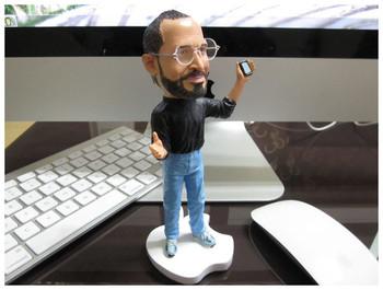 Apples store CEO Steve Jobs 18cm resin material doll  Artificial Sculpture Souvenir Toys +Free shipping