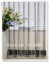 free shipping,3m*3m Black-white striped room divider/100% polyester Black &white two-tone string curtain