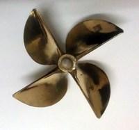 rc boat 4 baldes propeller 6717 bronze propeller, fit 6.35mm prop shaft