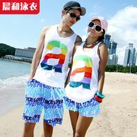 Lovers beach pants vest lovers beach resort