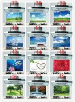 HD Pattern kitchen oil sticker 65*45cm the blue sky, landscape fruit food greaseproof paper heat-resistant wall stickers  fj-6