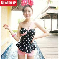 Swimwear hot spring female small polka dot split swimsuit q2055