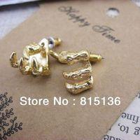 Min.order is $12 (mix order) Free Shipping 2013 New Retro Trachypenaeus Stud Earrings,Europe retro Trachypenaeus earrings 4g