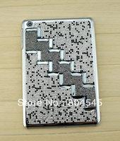 Trapezoidal  design   With diamond   Hard back  Cover Case for Ipad mini