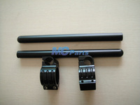 Free shipping FOR 50MM CNC Handlebars Handle Bar Clip On ons Ducati Monster 696 1100 S 695 Black