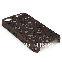 10PCS Free shipping Unique Mesh Protective Case for Phone 4 Pink/Blue/Brown