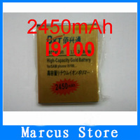 Free shipping hongkong post GOLD 2450mAh Business battery For Samsung I9100 Galaxy S II S2