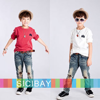 New Fashion Boys Long Sleeve T shirts children winter autumn clothes kids cool solid Tops,Free Shipping K0348