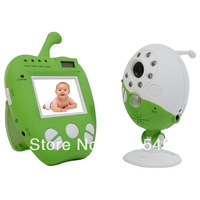 "Cut Apple 2.5"" Wireless Baby Monitor Night Vision PIR Montion Detector Alarm put baby in your hand"
