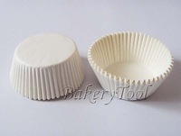 Promotional FDA approved 500pcs Plain White color cupcake liners baking cups ,Muffin Cup paper Cupcake Cases