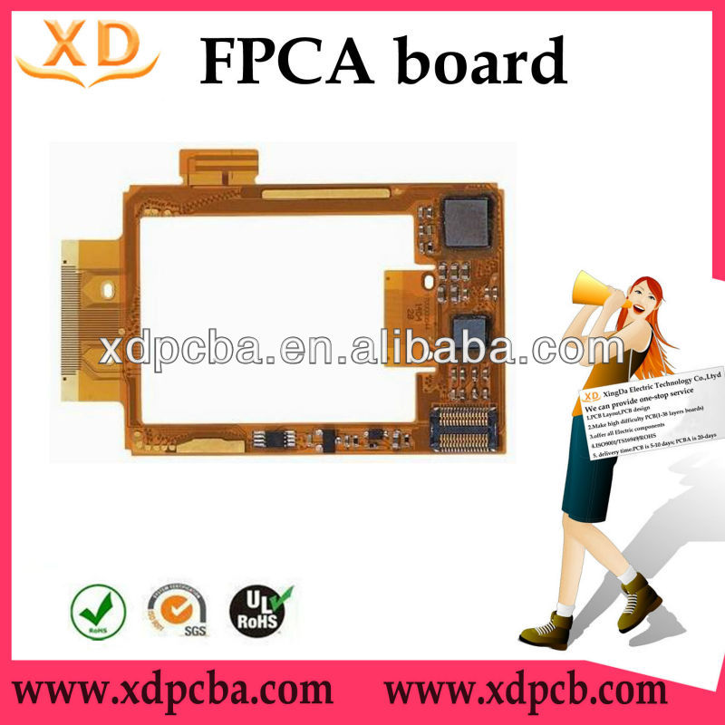 Lcd display fpc/ led cable connector/ China flex pcb prototyping/ flexible printed circuit board manufacturer in Alibaba(China (Mainland))