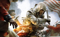 """019 Assassin's Creed III hot game 38"""" x 24"""" Inch Wallpapr Sticker Poster"""