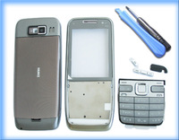 SILVER MOBILE FASCIA HOUSING COVER CASE +TOOL FOR NOKIA E52