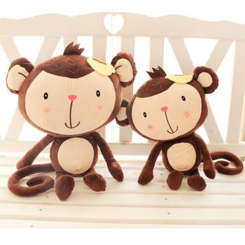 Cat parent-child naughty monkey cartoon monkey doll plush toy doll birthday gift