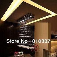 100cm Large Size Modern Design K9 Crystal Ceiling Light Lamp Chandelier EMS FREE SHIPPING