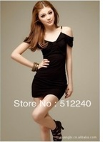 free shipping 5pcs /Europe and the United States sexy nightclub loaded package hip fashion dress