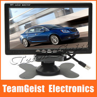 "FEDEX Free Shipping 4pcs/lot 7"" inch TFT Car RearView Monitor 170 Degree view Parking 1/4 inch CMOS Sensor + Wireless Rearview"