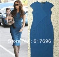 Victoria Style Posh Dress V-Neck Newest  MILITARY Celebrity Blue Size: S/M/L/XL