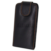 Black PU Leather Case Cover Pouch + Film For Nokia C7