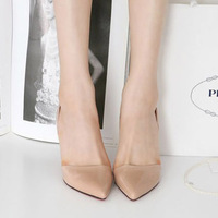 2012 women's sandals women's shoes pointed toe high-heeled shoes thin heels high-heeled female 1994