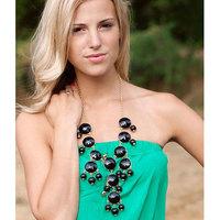 Free Shipping!Hot Fashion Bohemia Style Resin Pendant Bubble Bib Statement Party Jewellery Necklace