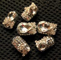 Hot new fashion Shine bridal Rhinestone fake nails tips nail patch Free Shipping wholesale