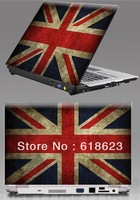 "HD Pattern British flag laptop shell sticker 10""12""13""14""15''personality pvc protective film beauty sticker 8 designs"