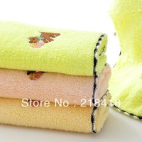 2013 new arrival 100% cotton child towel 26*50cm cartoon dog embroidery children towel  Eco-friendly hot selling free shipping