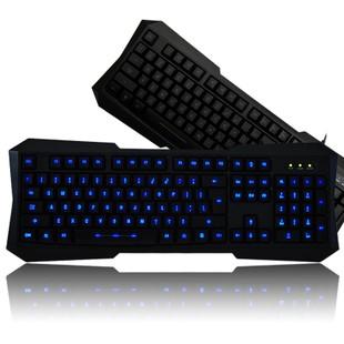 Luminous backlit keyboard wired usb professional gaming keyboard computer cs cf dota Green backlight JW-01 free shipping(China (Mainland))