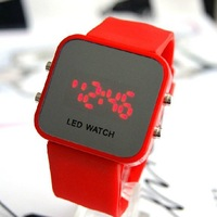 LED Christmas presents students sports LED watches fashion watches, men and women watch, free shipping