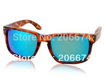 NEW WG009 Dark Brown TR90 Frame & REVO Coating White-Blue Polaroid Lenses Retro Style Glasses(Dark brown)+free shipping