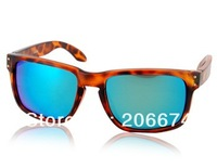 NEW WG009 Dark Brown TR90 Frame & REVO Coating White-Blue Polaroid Lenses Retro Style Glasses(Dark brown)+free shipping