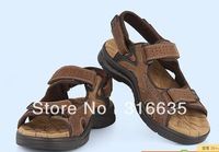 Men's 100% leather brand sandal /slippers *Genuine Leather sandal size:40-44