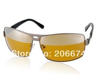 NEW Nickel Alloy Polaroid Polarized Lenses Night Driving Glasses(Yellow)+free shipping