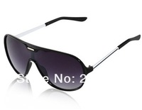 NEW H1261 PC Plastic Frame & Gray PC Plastic Lens Stylish Sunglasses (Black)+free shipping