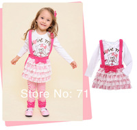 New Arrival 2013 lovely bear skirt + Strap dress  set  Colors 5 size available Beautiflul Skirt 5pcs/lot Free shipping in stock