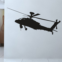 Free Shipping Wall stickers Home decor Size:440mm*1180mm PVC Vinyl paster Removable Art Mural Helicopter Z-37