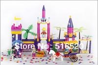 Original Box Banbao Princess SeriesRose Garden 6367 Girl Building Block Sets 420pcs Educational Bricks toys for children
