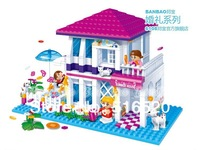 Banbao Wedding Holiday Villa 6105 Girl Building Block Sets 425pcs Educational Jigsaw DIY Construction Bricks toys for children
