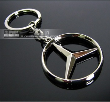 Quality MERCEDES BENZ 3D hollow logo Car METAL KEY CHAIN ring C180 C200 E200 E300 S3