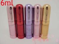 Wholesale 6ml 30pcs/lot  Metal Case Glass Tank Mini Perfume Atomizer Bottles Aluminum Nozzle Metal Spray Bottle