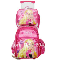 free shipping top quality fashional 2013 kids school bags primary school students cartoon charater drawing twinset shoulderbag