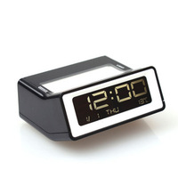 personalized LED Mini Brief fashion Alarm Clock electronic LCD Clock Contracted Fashion Table Clock with Light Window
